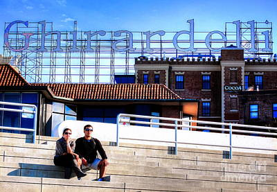 Art Print featuring the photograph Ghirardelli Square by Andreas Thust