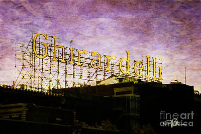 Ghirardelli Square Fishermans Wharf San Francisco California Art Print by Jani Bryson