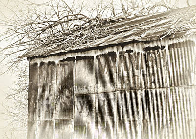 Photograph - Ghost Barn 1b by Greg Jackson