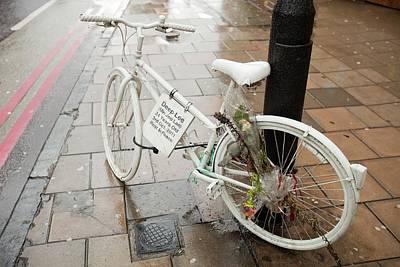 Ghost Bike Tribute To A Cyclist Art Print