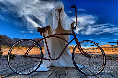 Photograph - Ghost Biker by Adam Jewell