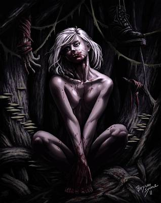 Fantasy Nudes Digital Art - Ghost by Bryan Syme