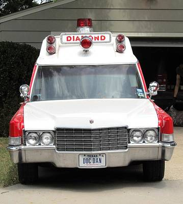 Ghost Busters Photograph - Ghost Busters Style Ambulance by Donna Wilson