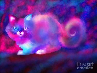 Ghost Cat 2 Art Print by Nick Gustafson