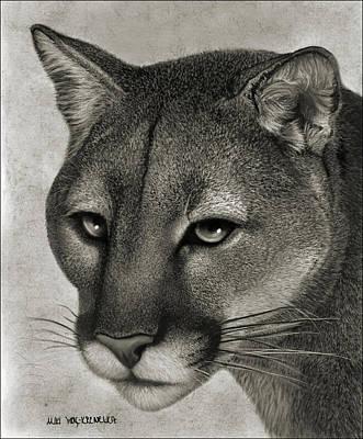 Ghost Cat Art Print by Miki Krenelka