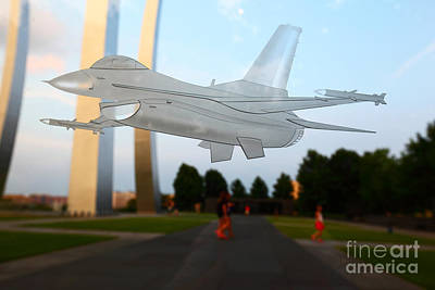 Missing Man Formation Photograph - Ghost Flight by James Brunker