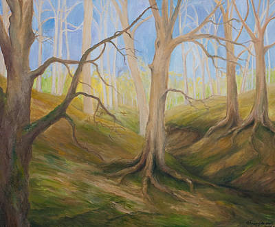 Painting - Ghost Forest I by Wendy Le Ber