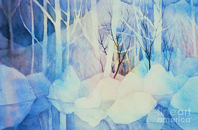 Art Print featuring the painting Ghost Forest by Teresa Ascone