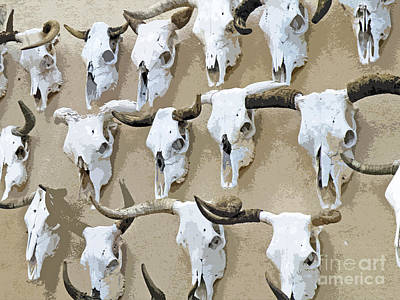 By Jake Photograph - Ghost Herd On The Wall by Joe Jake Pratt