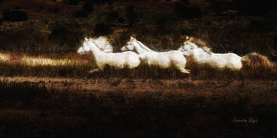 Art Print featuring the photograph Ghost Horses by Karen Slagle