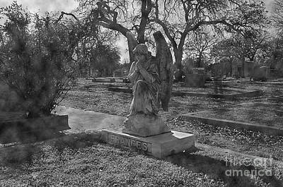 Apparition Photograph - Ghost In The Cemetery by Hilton Barlow