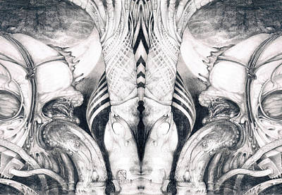 Ghost In The Machine - Detail Mirrored Art Print by Otto Rapp
