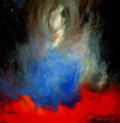 Art Print featuring the painting Ghost by Lisa Kaiser