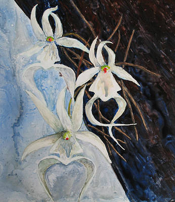 Painting - Ghost Orchid Blooming by Patricia Beebe