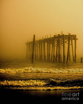 Pier Photograph - Ghost Pier by Tom Gari Gallery-Three-Photography
