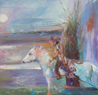 Mystical Landscape Painting - Ghost Rider by Susan  Esbensen