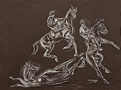 Ghost Riders In The Sky Art Print by Tom Conway