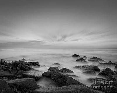 Beach Royalty-Free and Rights-Managed Images - Ghost Rocks BW by Michael Ver Sprill
