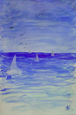 Painting - Ghost Sails On The Sea by Nieve Andrea