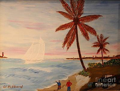 Painting - Ghost Schooner by Bill Hubbard
