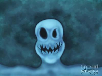 Ghost Selfie  Art Print by Gyorgy Kuhn