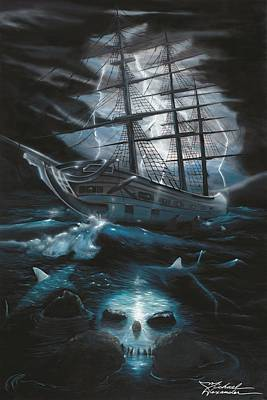 Wyland Painting - Ghost Ship by Michael Alexander