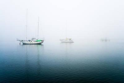 Coastline Photograph - Ghost Boats In Morro Bay by Priya Ghose