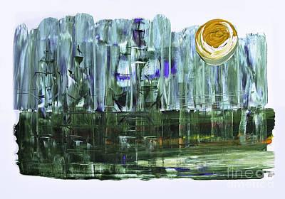 Mixed Media - Ghost Ships by Walt Foegelle