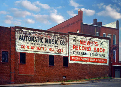 Photograph - Ghost Sign. Clarksville Tennessee  by Chris  Kusik