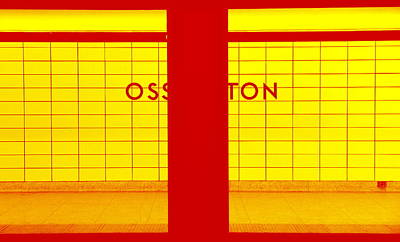 Ghost Station In Red And Yellow Art Print by Valentino Visentini