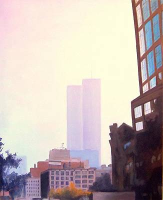 Ghost Towers Original by Richard Weinberger
