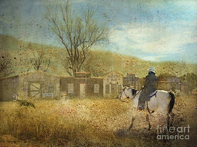Ghost Town #1 Art Print by Betty LaRue