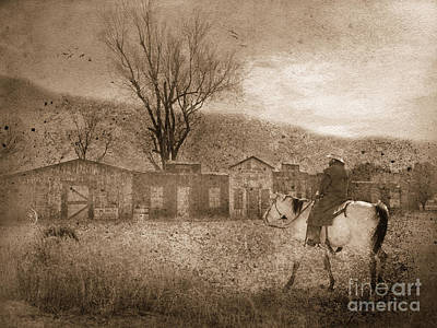 Ghost Town #2 Art Print by Betty LaRue