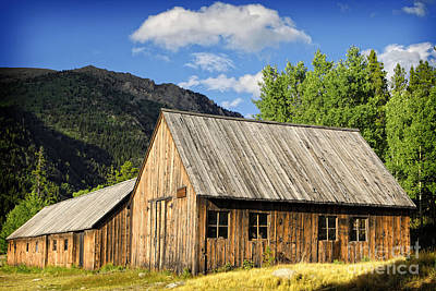 Art Print featuring the photograph Ghost Town Barn And Stable by Lincoln Rogers
