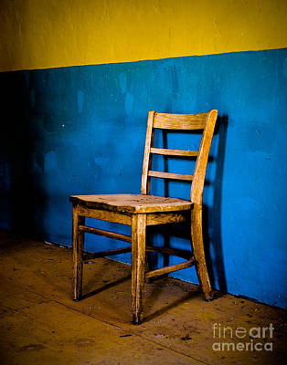 Ghost Town Chair Art Print by Sonja Quintero
