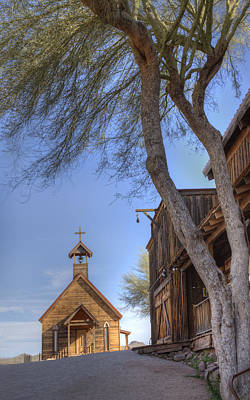 Art Print featuring the photograph Ghost Town Chapel by Wendell Thompson
