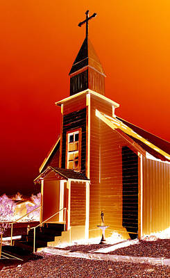 Hollywood Style - Ghost town church by Diana Hughes