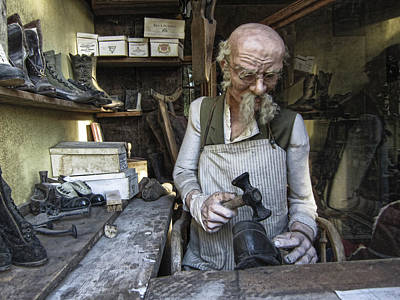 Mens Shoe Photograph - Ghost Town Cobbler - Virginia City - Montana by Daniel Hagerman