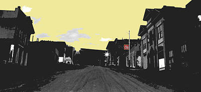 Lucille Ball - Ghost town dusk Victor Colorado by David Lee Guss