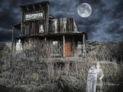 Photograph - Ghost Town by EricaMaxine  Price