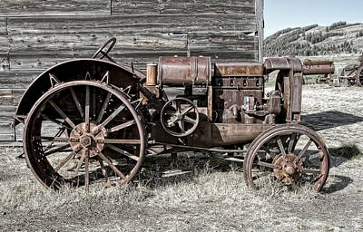 Ghost Town Farm Tractor - Molson Washington Art Print by Daniel Hagerman