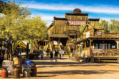 Ghost Town Goldfield Arizona Art Print by Bob and Nadine Johnston