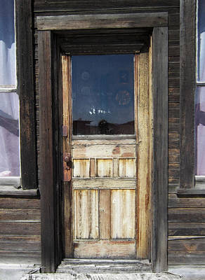 Cabin Window Digital Art - Ghost Town Handcrafted Door by Daniel Hagerman