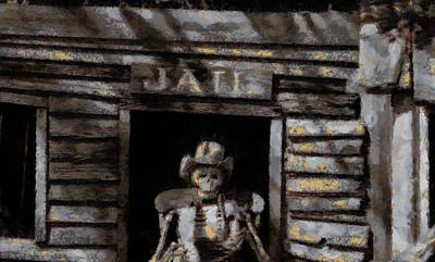 Prison Painting - Ghost Town Jail by Dan Sproul