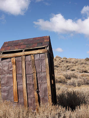 Old Wood Outhouse Photograph - Ghost Town Outhouse by Art Block Collections