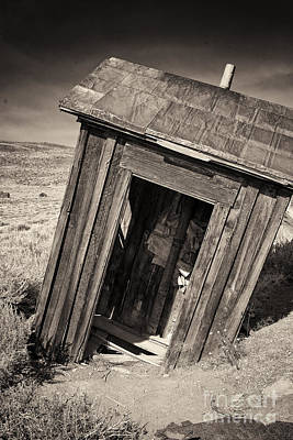 Ghost Town Outhouse Print by George Oze