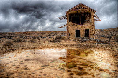 Sw New Mexico Photograph - Ghost Town Reflections by Roch Hart