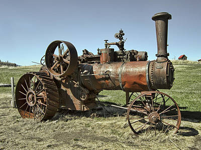 Steam Tractor Photograph - Ghost Town Steam Tractor by Daniel Hagerman