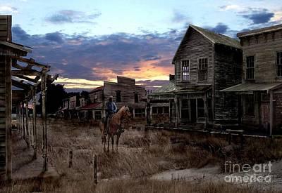 Spooky Digital Art - Ghost Town  by Tom Straub