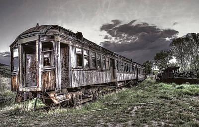 Ghost Town Train - Montana Art Print by Daniel Hagerman